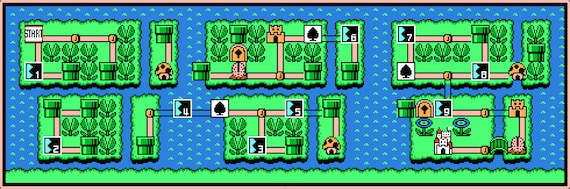 Super Mario Bros 3 World 7 Map Cross Stitch Pattern Etsy