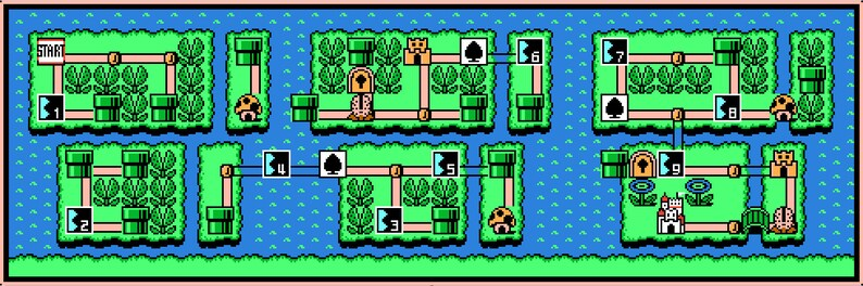 Super Mario Bros  3 World 7 Map -- Cross Stitch Pattern!