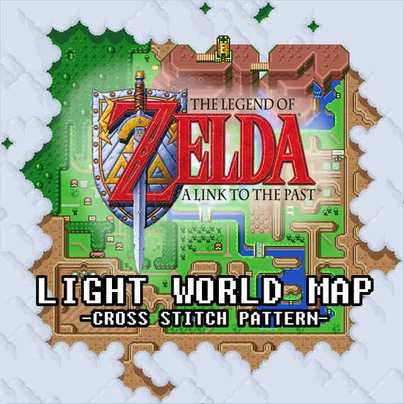 Link To The Past Light World Map.Legend Of Zelda A Link To The Past Light World Map Cross Etsy