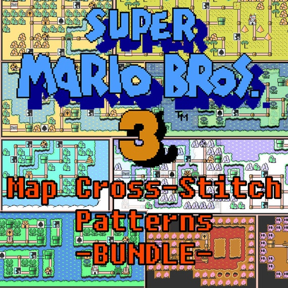 Super Mario Bros 3 All Worlds Maps Cross Stitch Pattern Etsy