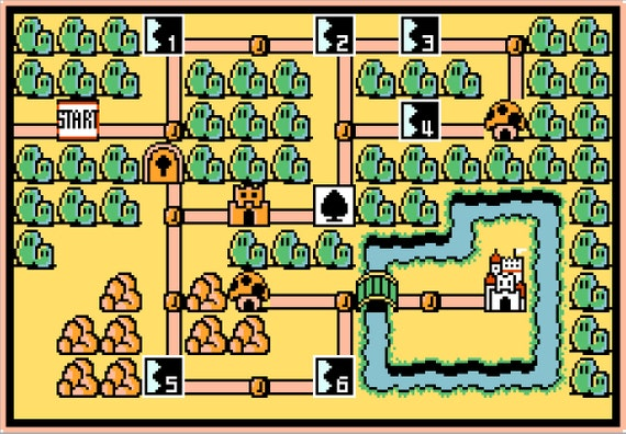 Mario 3 World Map.Super Mario Bros 3 World 1 Map Cross Stitch Pattern Etsy