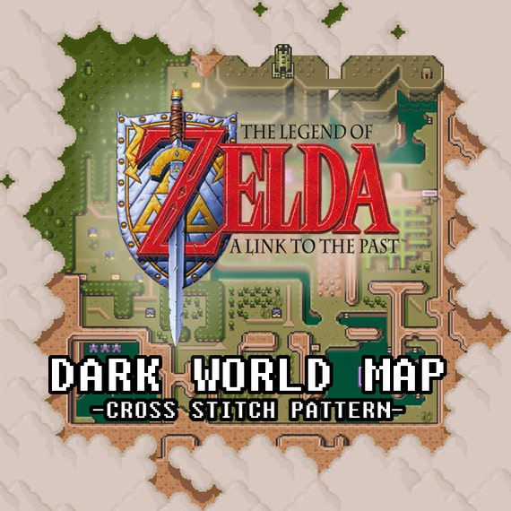 A Link To The Past Dark World Map.Legend Of Zelda A Link To The Past Dark World Map Pdf Etsy