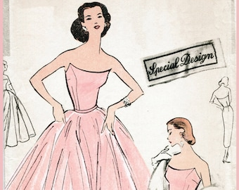 Evening Gown Pattern Etsy