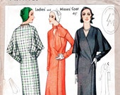 vintage sewing pattern 1930s capelet coat two styles attached scarf mackintosh 1930 reproduction