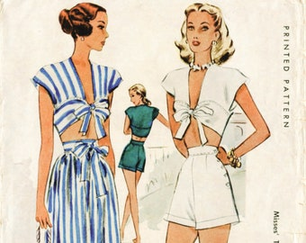 3 SIMPLICITY 8291 GIRLS Beach Romper PLAYSUIT Sunsuit Swimsuit Sewing Pattern