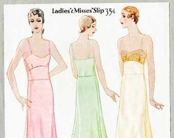 vintage sewing pattern 1920s 20s vintage McCall sewing pattern lingerie lace slip negligee bust 34 b34 no. 6169 reproduction