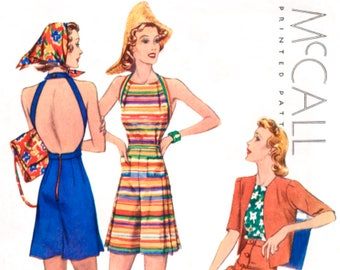 15d2f6e853 vintage sewing pattern 1930s pattern    beachwear playsuit    jacket skirt        Bust 32 34 36 38 40    French   English