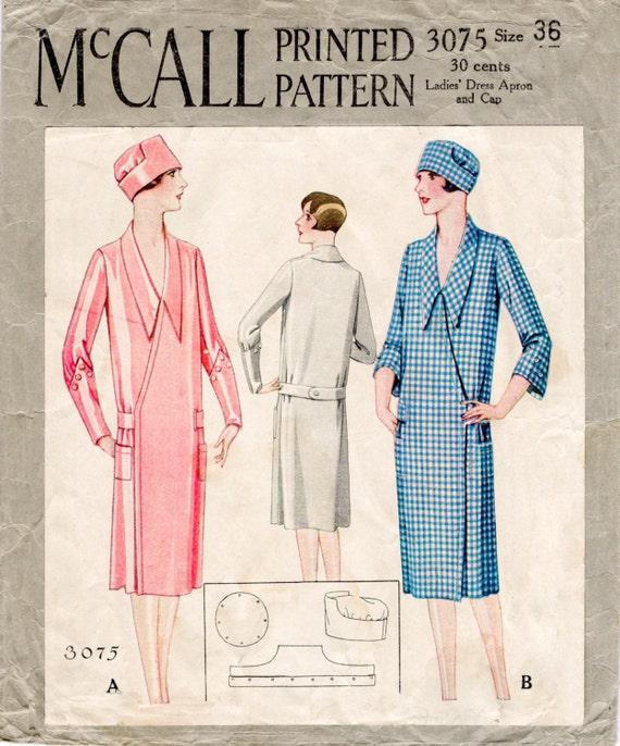 Vintage Schnittmuster 1920s 1930s Wrap Mantel & Hut Büste 36 | Etsy
