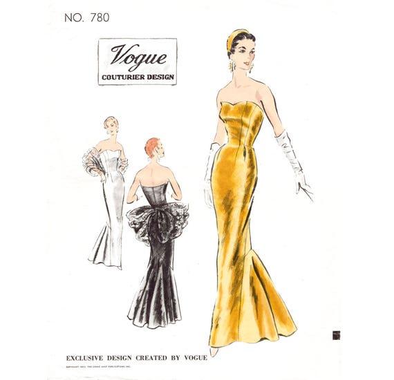1950er Jahre 50er Jahre cocktail-Abendkleid Meerjungfrau Kleid | Etsy
