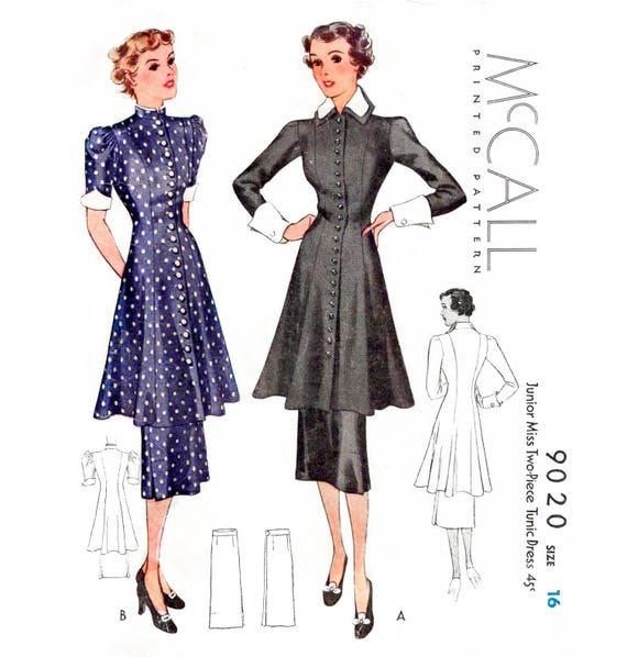 1930er Jahren 30er Jahre Kleid / / Vintage Schnittmuster | Etsy