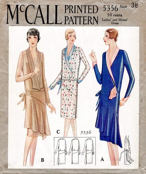 1920er Jahre 20er Jahre historische Kleid Vintage Nähen Muster | Etsy