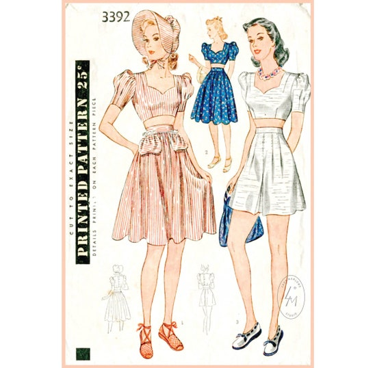 Vintage Reproduction Womens Slippers Sewing Pattern Size/'s Sml-Large