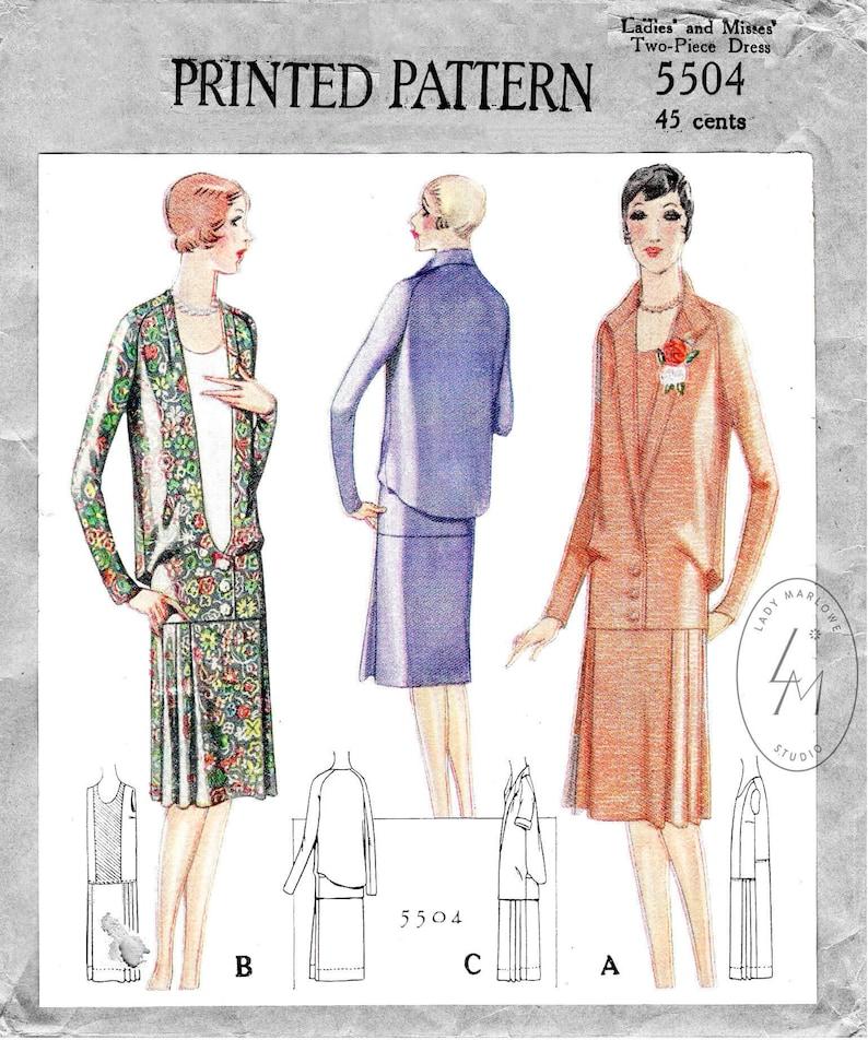 1920s Patterns – Vintage, Reproduction Sewing Patterns vintage sewing pattern 1920s 20s dress / reproduction / flapper dress drop waist / pleated skirt / bust 34 36 38 40 42 $21.80 AT vintagedancer.com