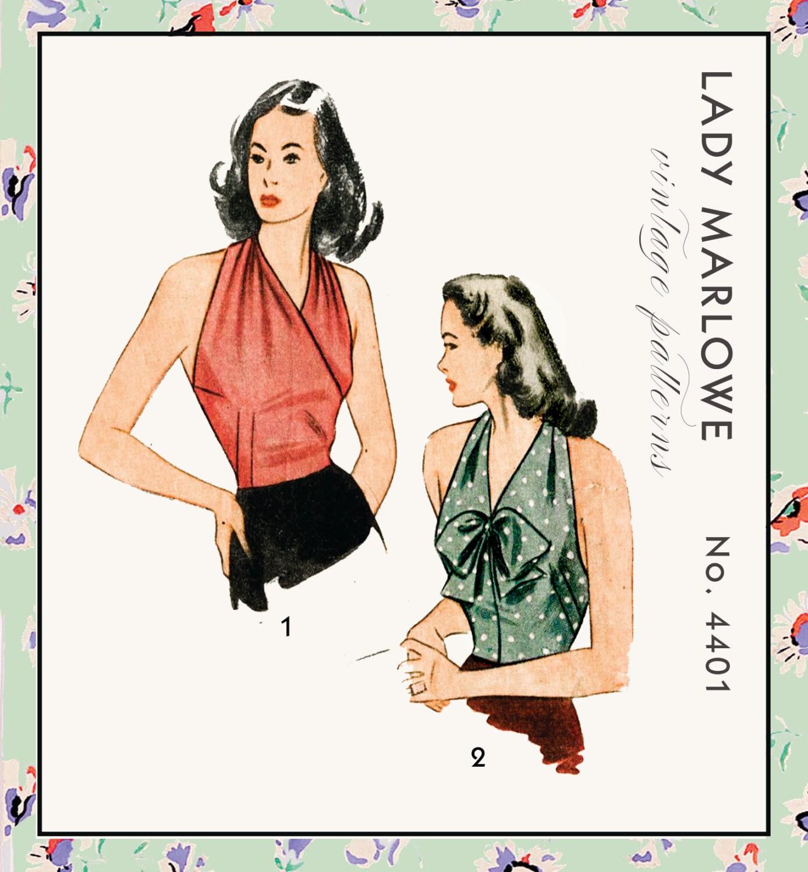Vintage Schnittmuster der 1940er Jahre 40er Jahre Halfter