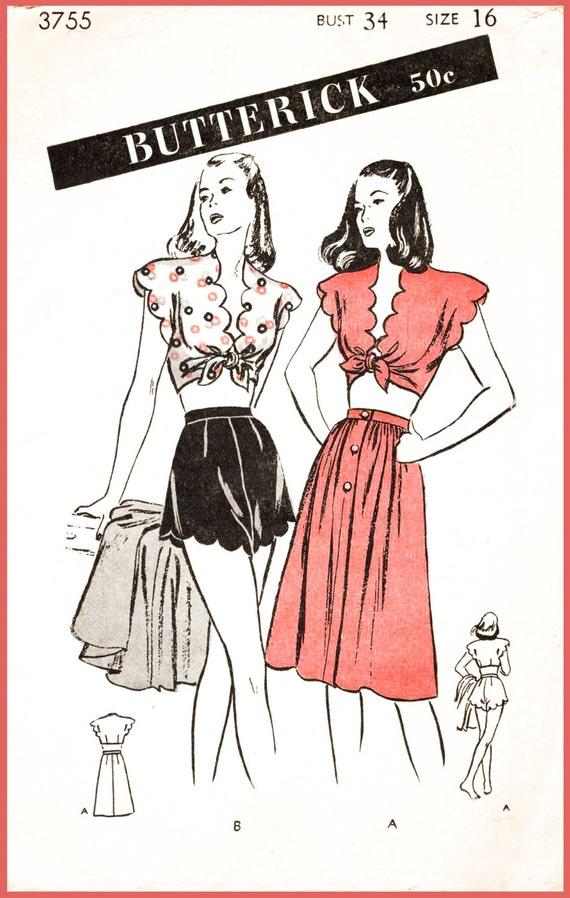 1940er Jahre 40er Jahre Repro Vintage Nähen Muster Bademode | Etsy