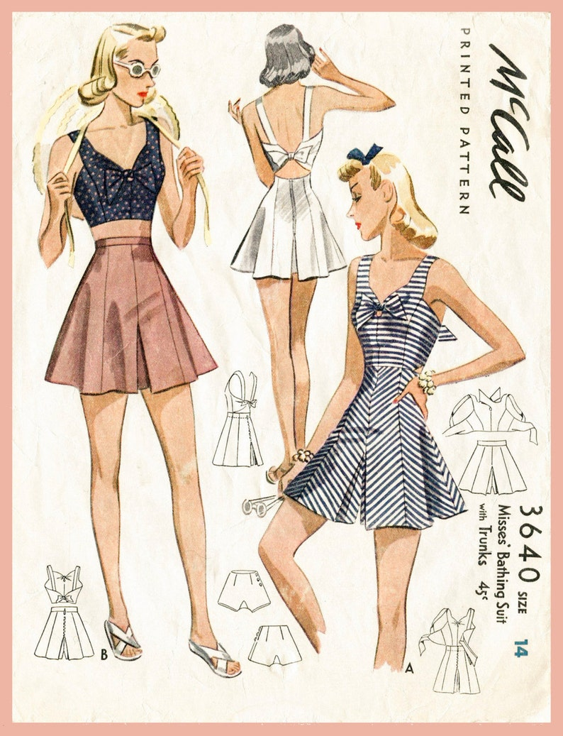 db2592c8 1940s shorts pattern