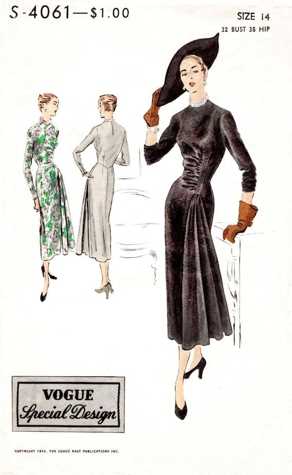 patrón de costura vintage de 1940s 1950s Vestido Falda de | Etsy