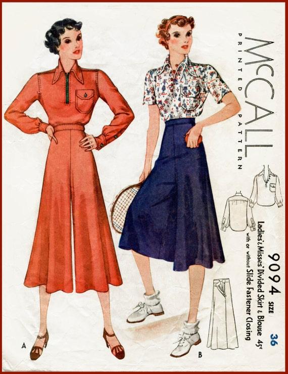 1930er Jahren 30er Jahre Jahrgang Nähen Schnittmuster Bluse & | Etsy