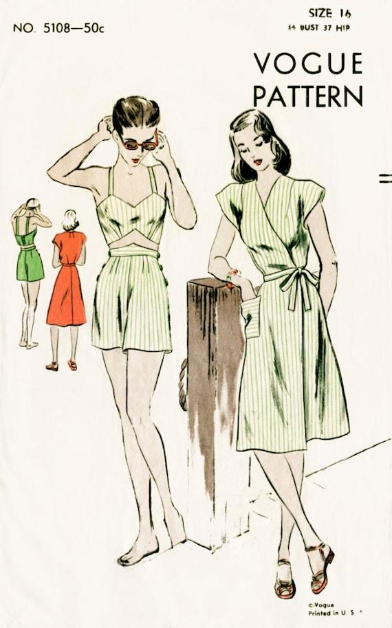 1940er Jahre 40er Jahre Jahrgang Nähen Muster Ernte oben
