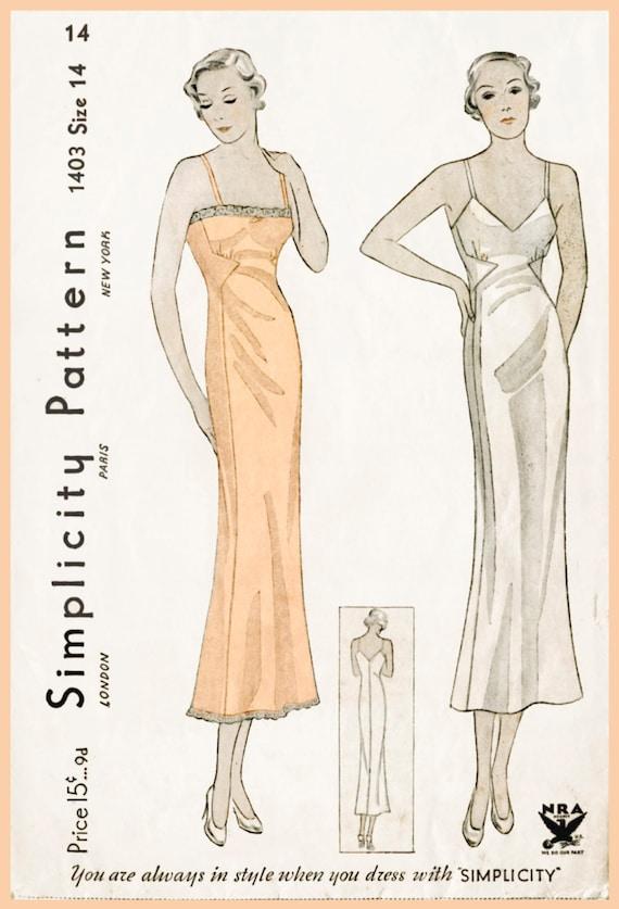 década de 1930 30s resbalón de encaje lencería vintage costura | Etsy