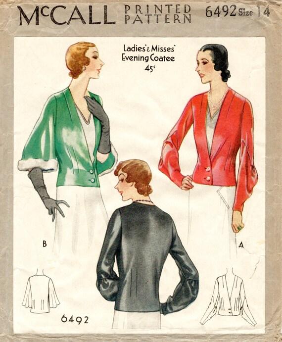 1930er Jahren 30er Jahre Repro Vintage Nähen Muster Tag oder | Etsy