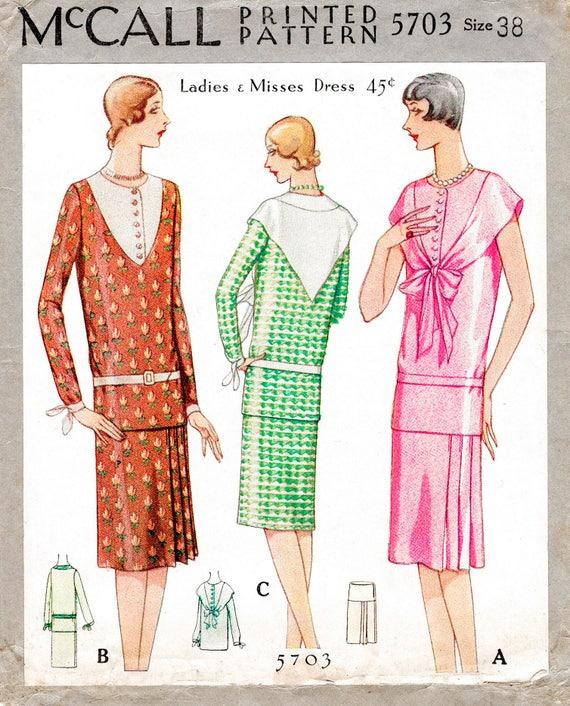 1920er Jahre 20er Jahre Flapper Kleid Schnittmuster Tropfen | Etsy