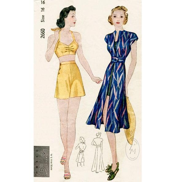 """1940s Vintage Sewing Pattern COAT B34/"""" R561"""