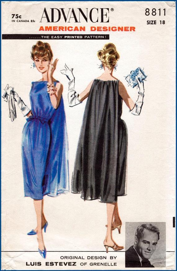 1950s 1960s Jahrgang wackeln Etuikleid & Cape Schnittmuster | Etsy