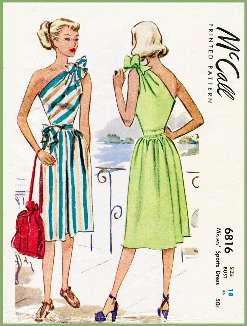 fea40b391f 40s 1940s reproduction vintage women s sewing pattern one