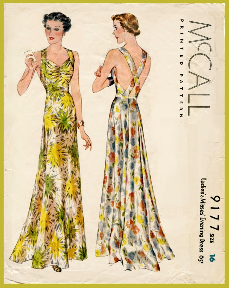 f5f188b27d1 1930s vintage Alix evening gown sewing pattern cocktail dress