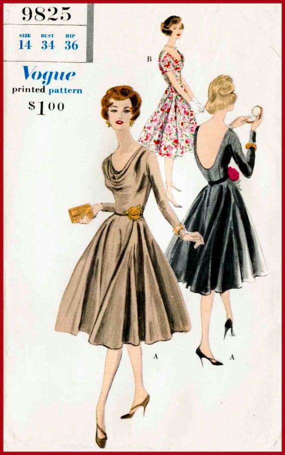 1950s 1960s Vintage Nähen Muster Mad Men Abend Schnitten | Etsy