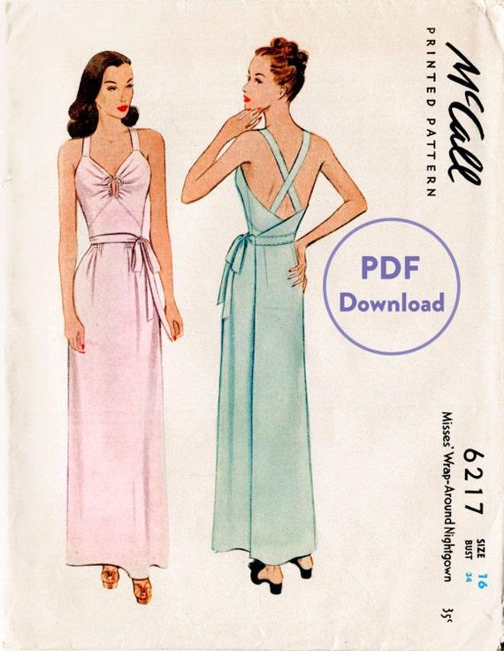 1940er Jahre 40er Jahre Vintage Kleid Nähen Muster Seite | Etsy