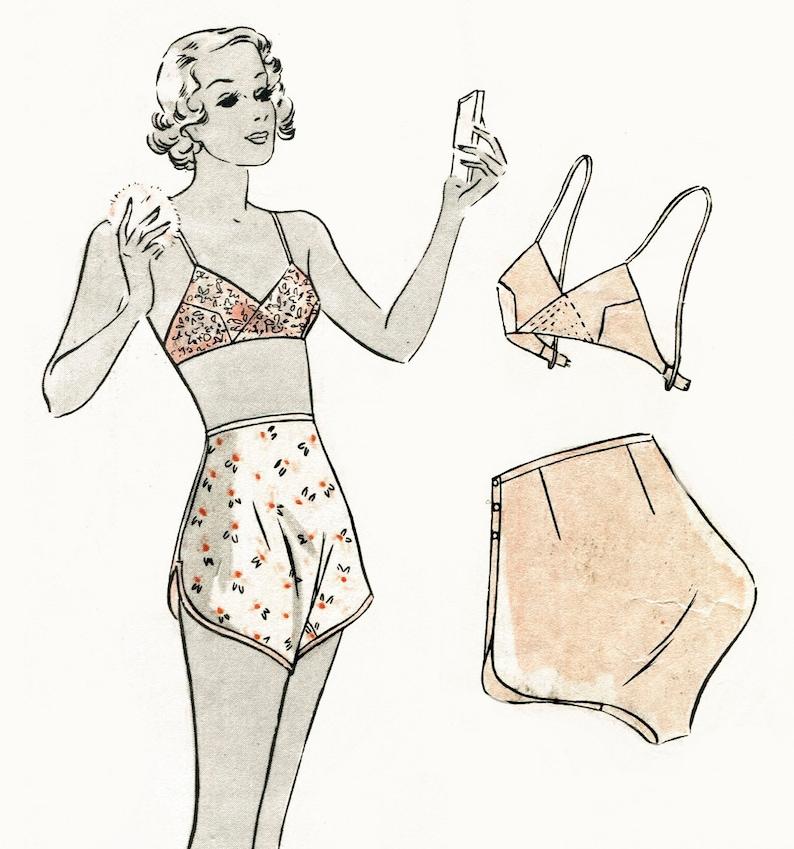 Vintage sewing pattern vintage lingerie sewing pattern 1930s  015bdbae2