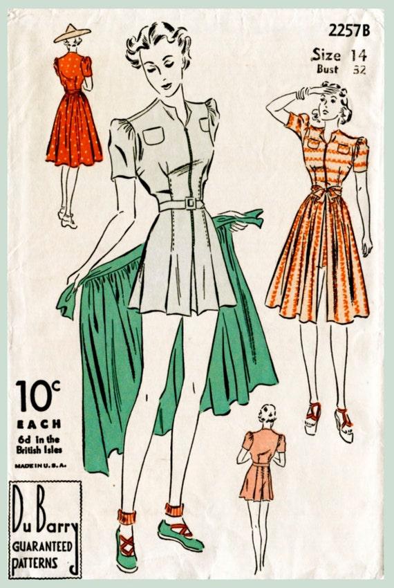 1940er Jahre 40er Jahre Vintage Badeanzug Schnittmuster Damen | Etsy