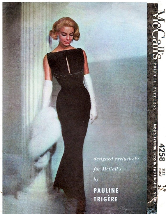 1950s 1960s Schnittmuster Abend Kugel Kleid cocktail wackeln | Etsy