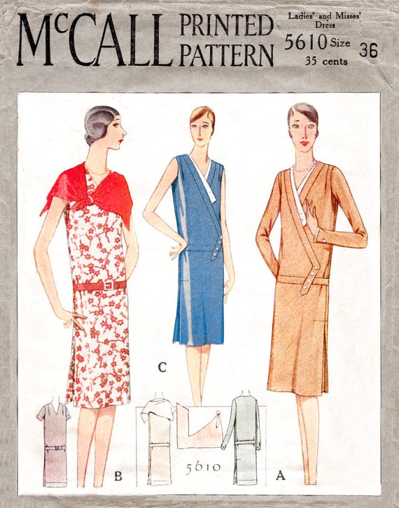 Vintage Nähen Muster der 1920er Jahre 20er Jahre historische | Etsy