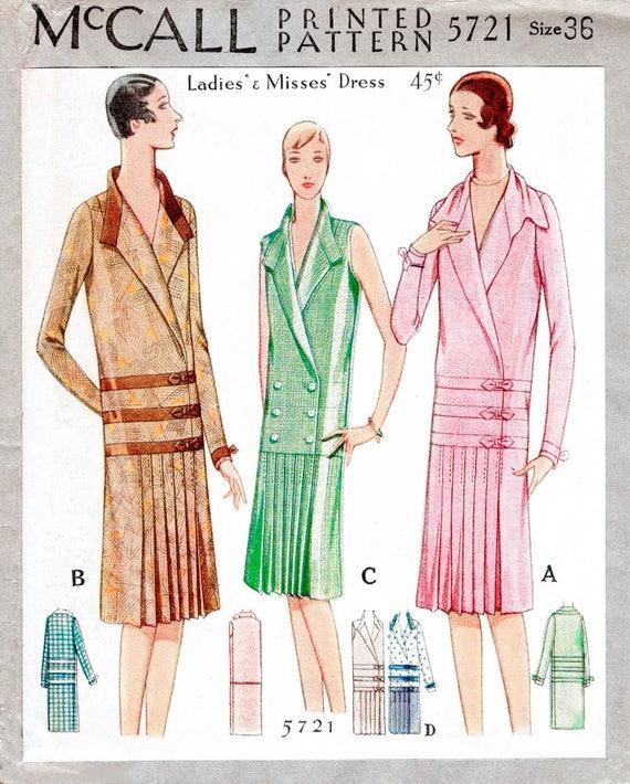 1920er Jahre Kleid Vintage Nähen Muster Reproduktion Flapper | Etsy