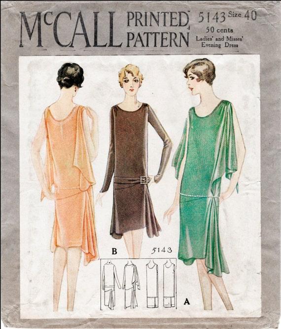 1920er Jahre 20er Jahre Repro Vintage Nähen Muster Flapper Tag | Etsy