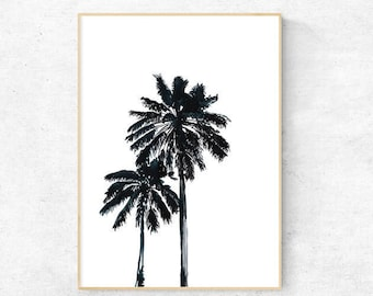Black Palm Tree Silhouette - Digital Download