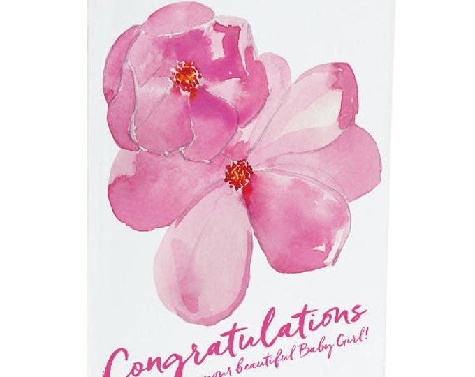 Congratulations on your Baby Girl - A6 Greeting Card