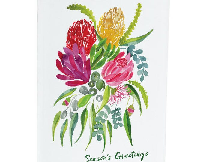 Season's greetings - Australian Natives - A6 Greeting Card