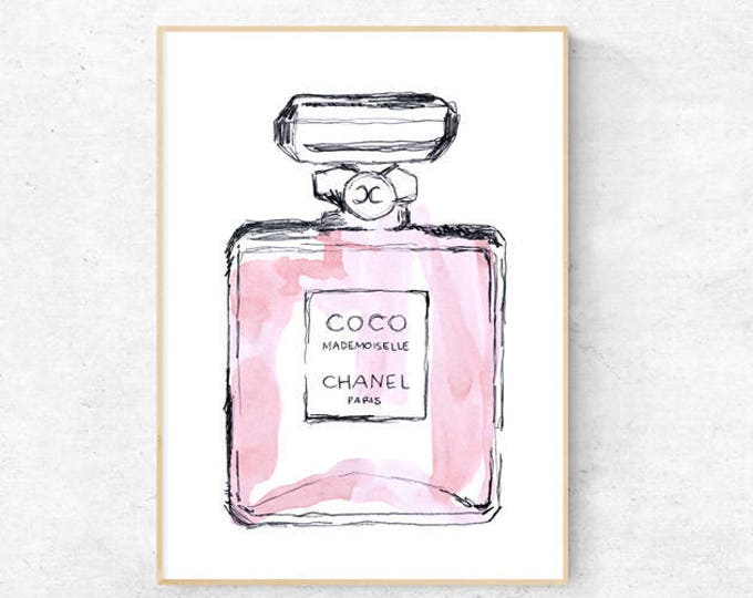 Coco Mademoiselle Bottle Watercolour - Premium Print