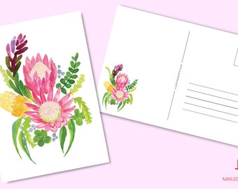 Australian Natives King Protea - Printable & Instant Download