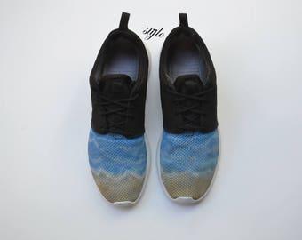 57df5cea654d9 Nike Roshe One Custom Painted waves Roshes