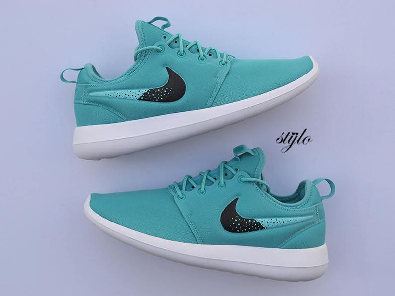 Nike Roshe Two Mint Custom Painted Roshes 2  b95b9d9cf