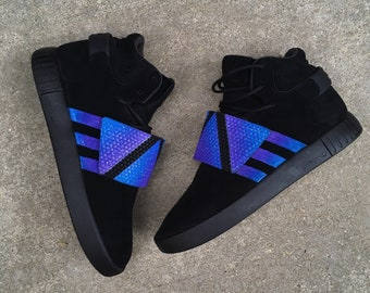Custom Painted Galaxy Adidas Tubular Invader Strap Sneakers