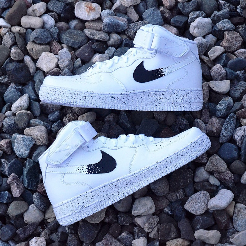 wholesale dealer 68244 4c559 New Nike Air Force 1 Custom Oreo AF1 Sneakers High Quality A