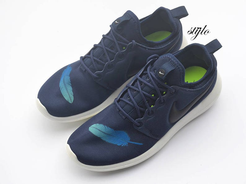 6a52f0411630b Nike Roshe Two Feathers Custom Painted Roshe 2