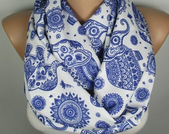 Elephant Scarf Animal Scarf Animal Lovers Gift Infinity Scarf Pet gift Women Accesories Gift For Her Gift For Mom Mothers Day Gift Scarves