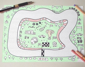image relating to Race Track Printable named Printable race observe Etsy